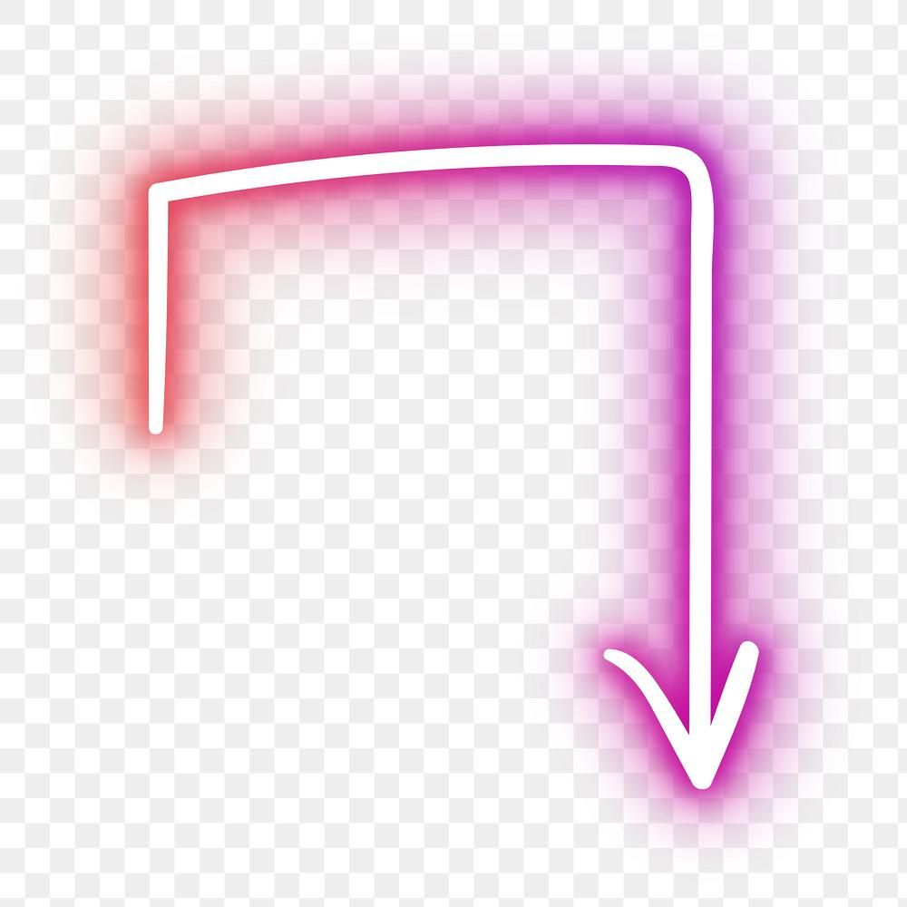 Neon Pink Turn Right Arrow Sign Design Element Free Image By Rawpixel Com Eve Neon Symbol Sign Design Design Element