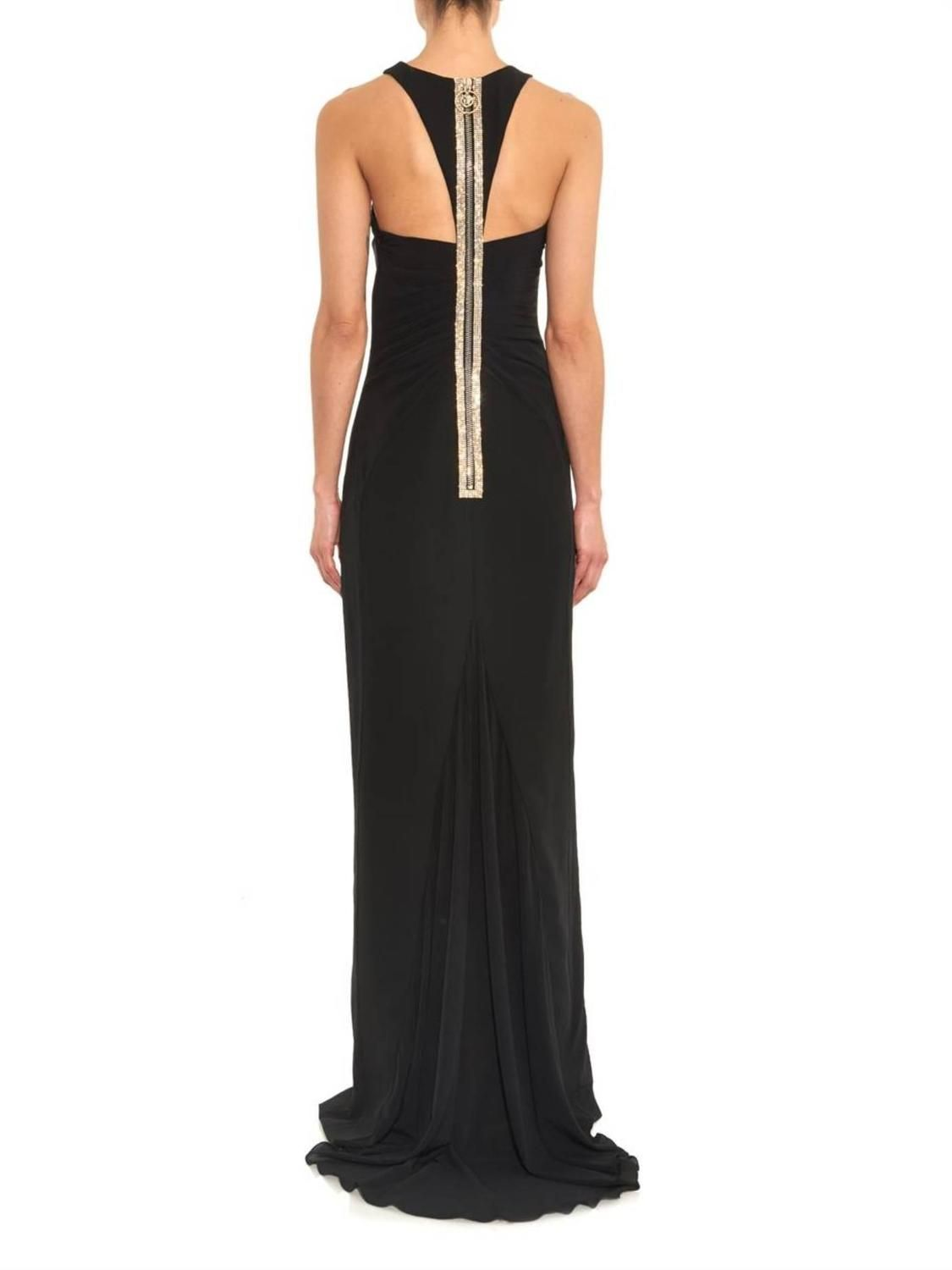 e62bb293 Versace Black Crystal-Embellished Silk Gown | WOMEN'S FASHION STYLE ...