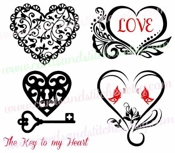 Download Valentine Hearts SVG and Clipart - Great for Cricut and ...