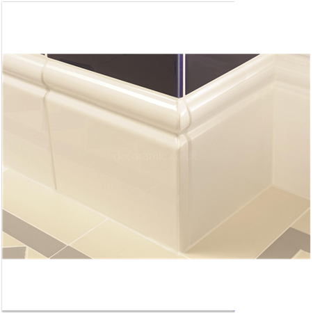 Original Style Tiles Brilliant White Skirting Left