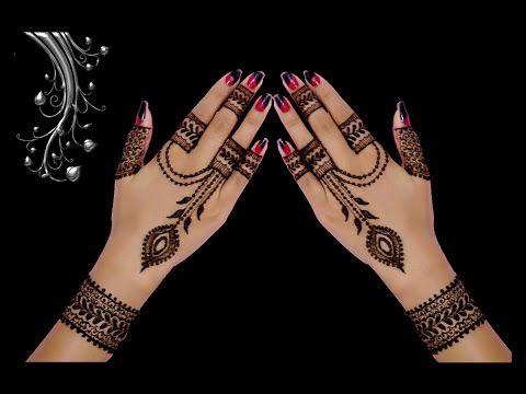Henna Jewellery Mehndi : Cute ornament jewellery style back hand henna mehndi design in