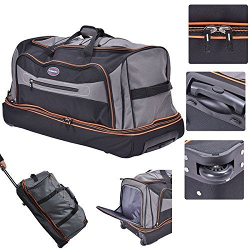 Eight24hours 30 Drop Bottom Rolling Wheeled Duffel Bag Carry On Luggage Travel Suitcase Click Image Suitcase Traveling Carry On Luggage Rolling Duffle Bag