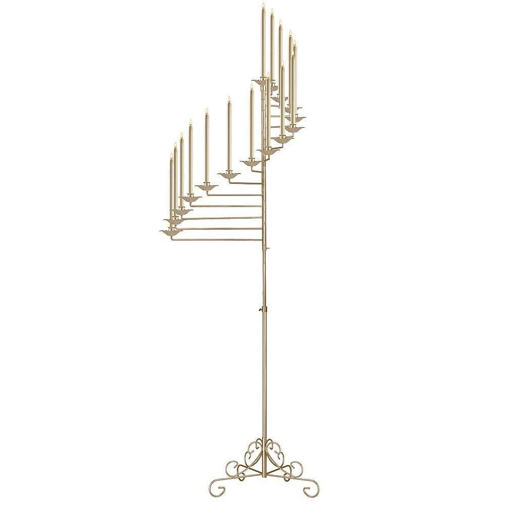 15-Light Spiral Candelabra   Candelabra, Feather centerpieces and ...