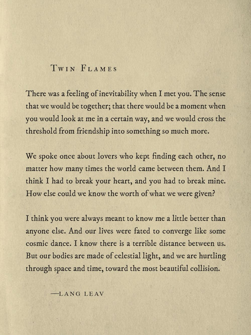 Twin Flames - Lang Leav