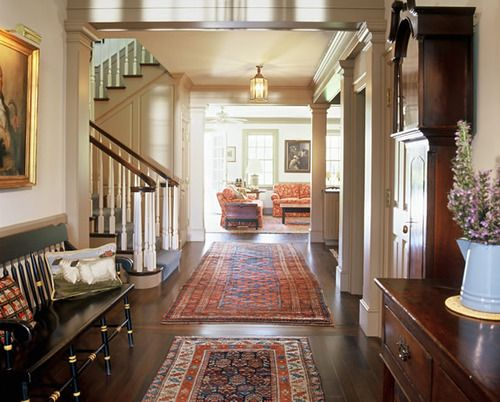 Hardwood Floors And Rugs Rug Placement Foyer Decorating House Styles