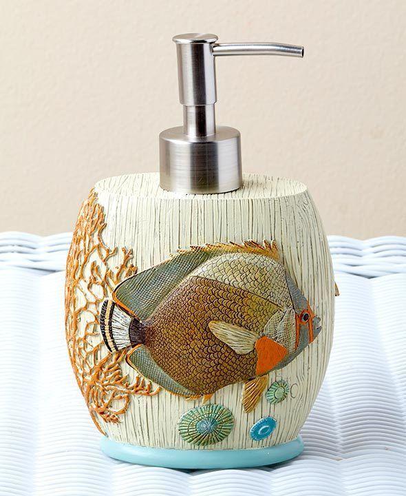 Coastal Sea Soap Pump Shell Rustic Decor Ocean Beach Bathroom Studiovoltaire