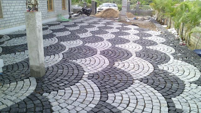garden tiles design. Contractors in Chennai  Garden tiles photos designs out side