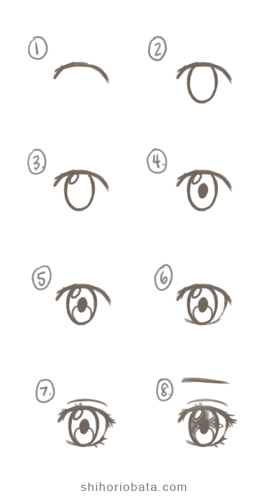 How To Draw Anime Eyes Easy Step By Step Tutorial How To Draw Anime Eyes Anime Eye Drawing Anime Drawings Sketches