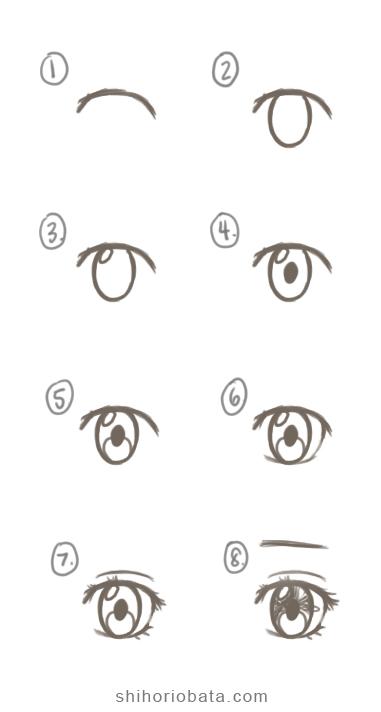 Anime Eyes Easy To Draw : anime, Anime, Eyes:, Tutorial, Drawing,, Eyes,