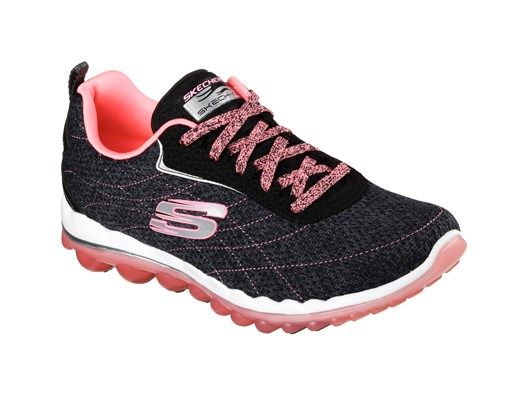 Get the advantage of sporty comfort and sleek style with the SKECHERS Skech-Air 2.0 - Modern Edge shoe.  Soft woven mesh fabric and synthetic upper in a lace up athletic cross training shoe with Gel Infused Memory Foam insole and advanced shock absorption features.