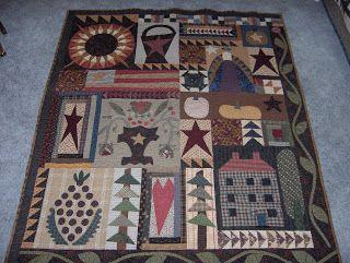 Humble quilts: primitive applique quilt quazy quilts country