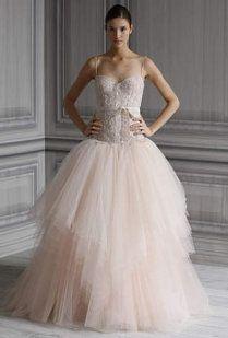 vestidos para novia en rosa palo