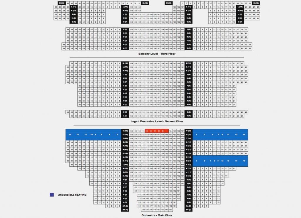 Orpheum Theatre Phoenix Seating Chart