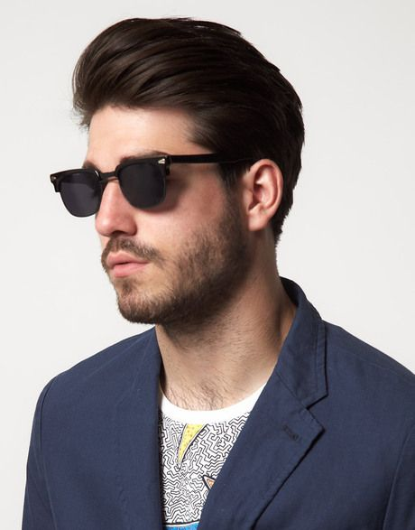 0f4cd5202269 Vintage Reclaimed Vintage Clubmaster Sunglasses in Black for Men - Lyst