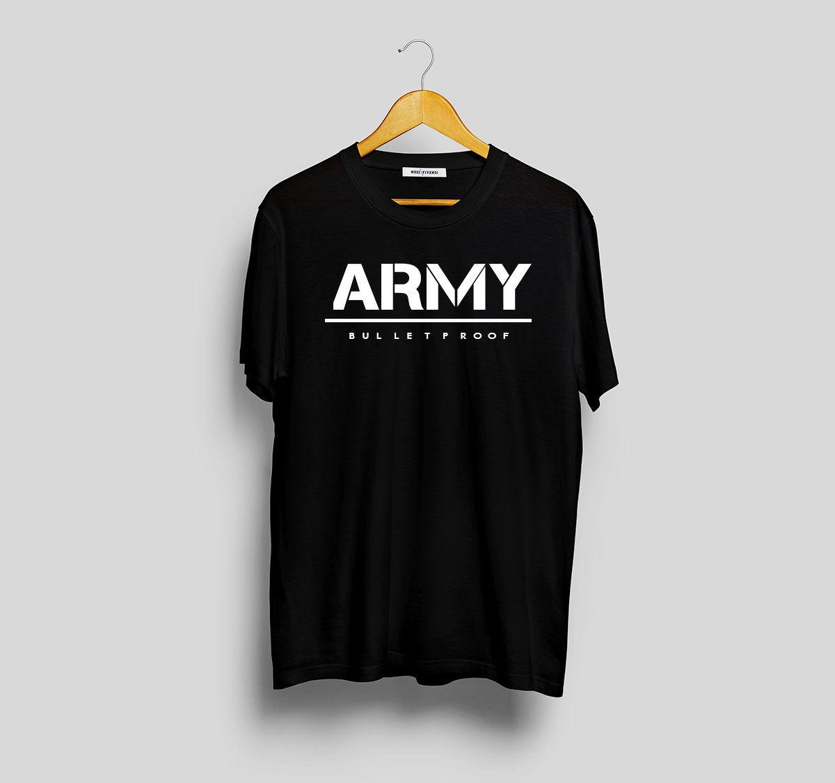 c2a9530088102 BTS ARMY Bulletproof T-Shirt Kpop Merch Korean fashion bts jimin bts  jungkook jhoooope bts members shirt Korean shirt jungkook shirt K-POP