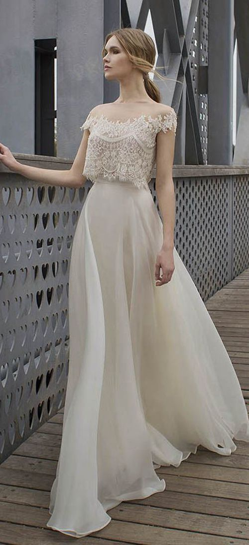 Lace two-piece wedding dress | WEDDING DRESSES 2016/2017 | Pinterest ...