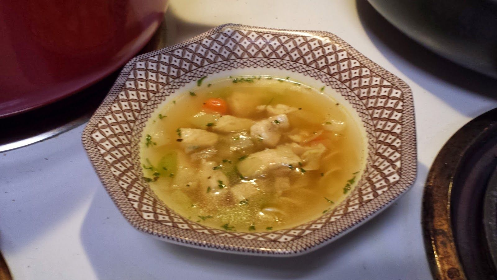 Comforting Chicken Noodle Soup // A delicious soup that tastes just like Grandma used to make. Ditch the canned soup and eat this nourishing and comforting chicken noodle soup.