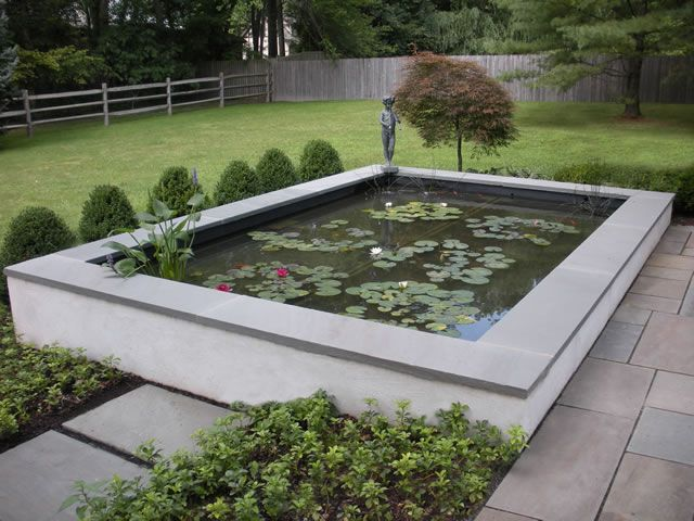 I want a pond i think a raised wall pond would be better for Raised pond design ideas