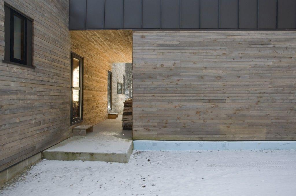 Hemlock Siding At Garage And Entry Robert Swinburne Architect Timber House Wood Siding Steel Siding