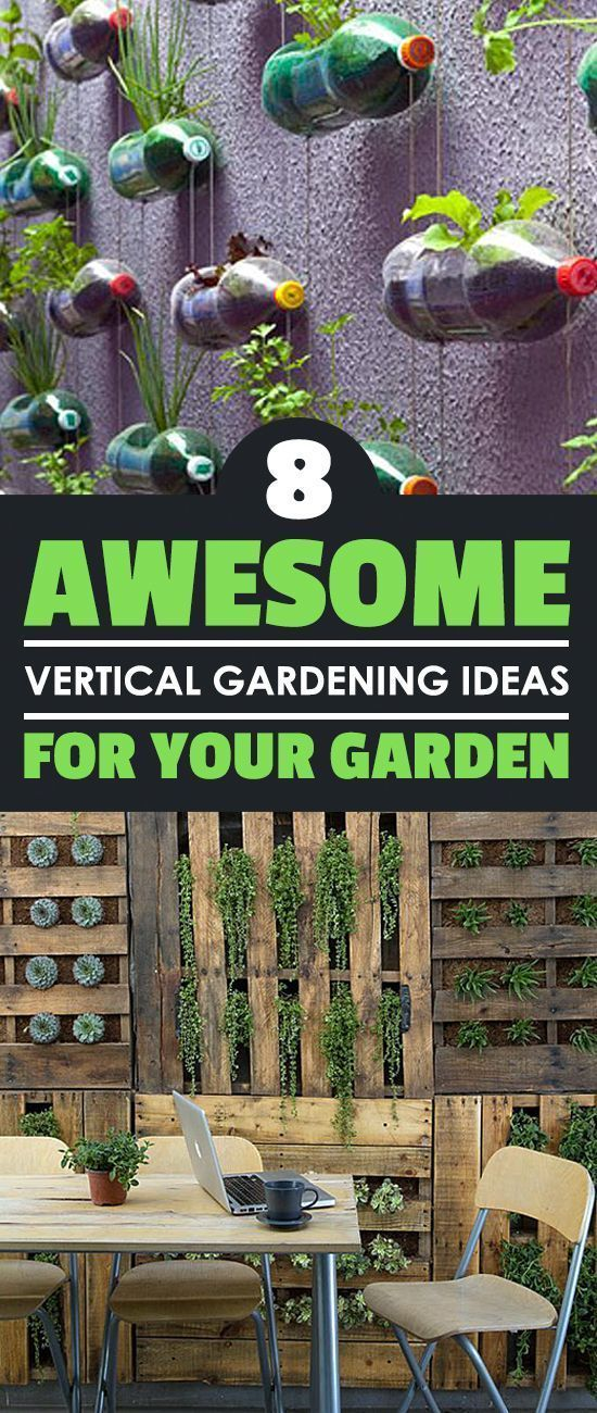 8 Awesome Vertical Gardening Ideas For Your Garden is part of Vertical garden, Vertical vegetable garden, Vertical herb garden, Hydroponic gardening, Creative gardening, Backyard garden - Vertical gardening is awesome  And these vertical gardening ideas are even more awesome  Be awesome and get inspired