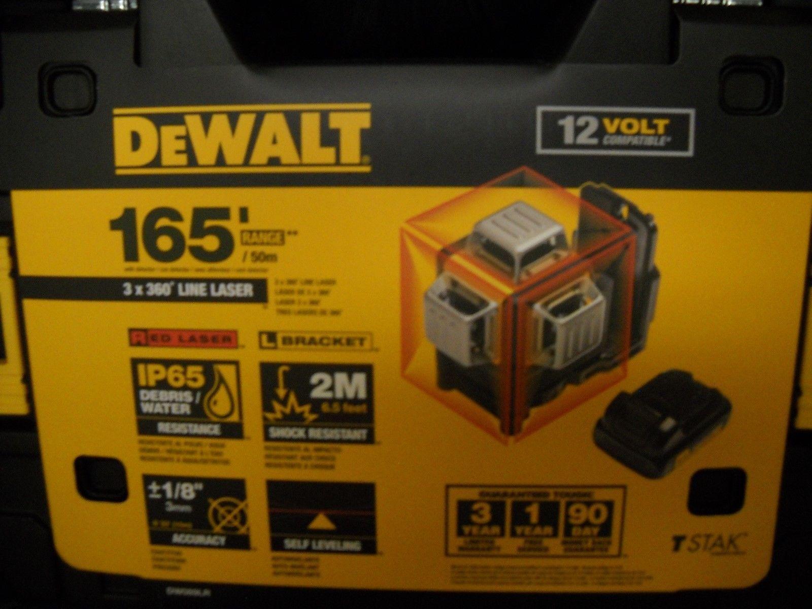 Laser Measuring Tools 126396 Dewalt Dw089lr 12v 3 X 360 Degree Red Line Laser New Buy It Now Only 339 On Ebay Laser Measu Dewalt Measuring Tools Laser