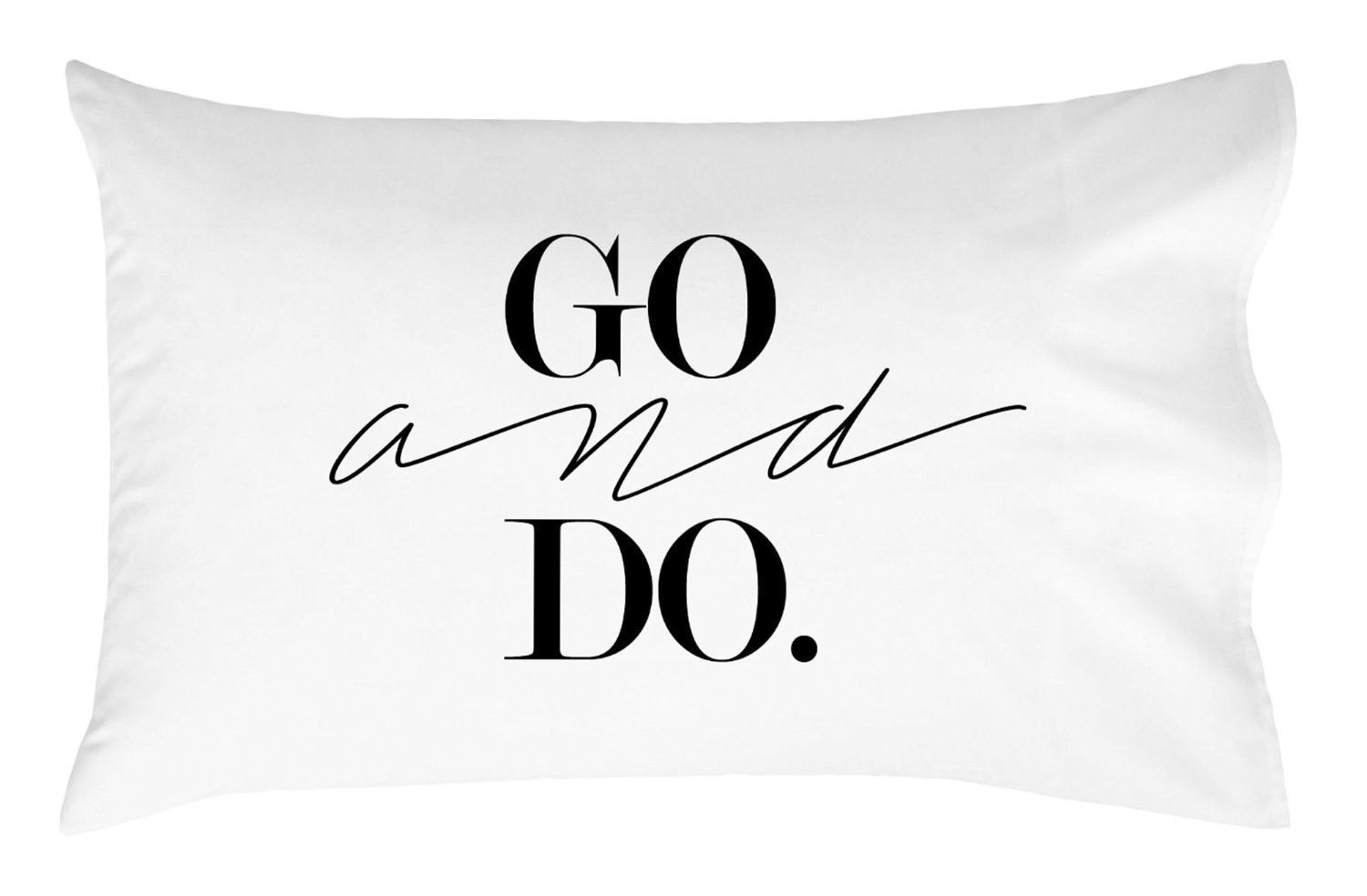 Go and Do Pillow Case Graduation Gifts for Her or Him Dorm Room Bedding Pillowcase Missionary Gift College Dorm Room Accessories