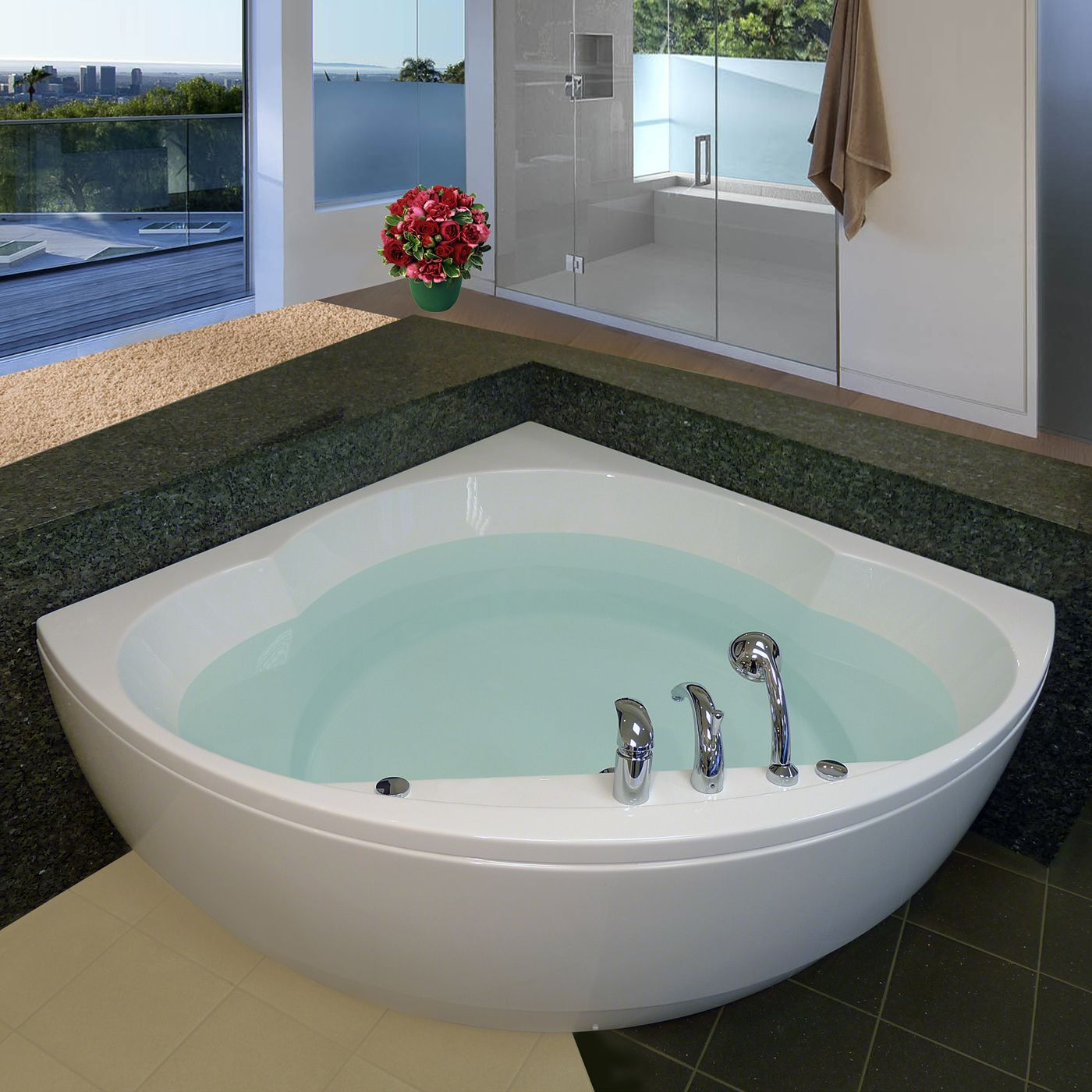 Shop Aquatica Cleo-Wht Corner Soaking Bathtub at ATG Stores. Browse ...