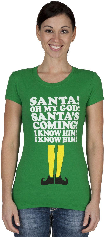 Santa I Know Him Elf Shirt (With images) Elf shirt, Elf