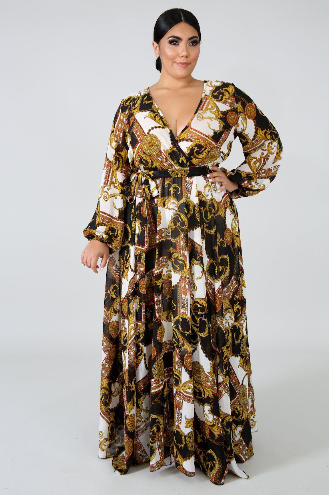 Style 2144 Description This Medallion Sheer Maxi Dress Features A Stretchy Fabric V Neckline L Plus Size Long Dresses Maxi Dress Plus Size Maternity Dresses [ 1727 x 1151 Pixel ]