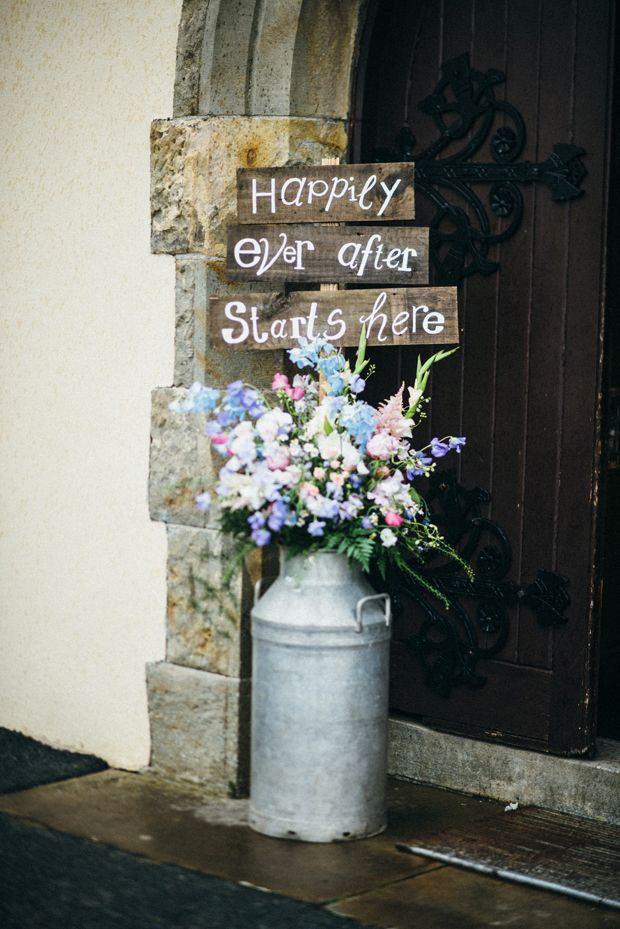 Together at last helena cathals rathmullan house wedding cute rustic flowers and signage onefabday more junglespirit Image collections