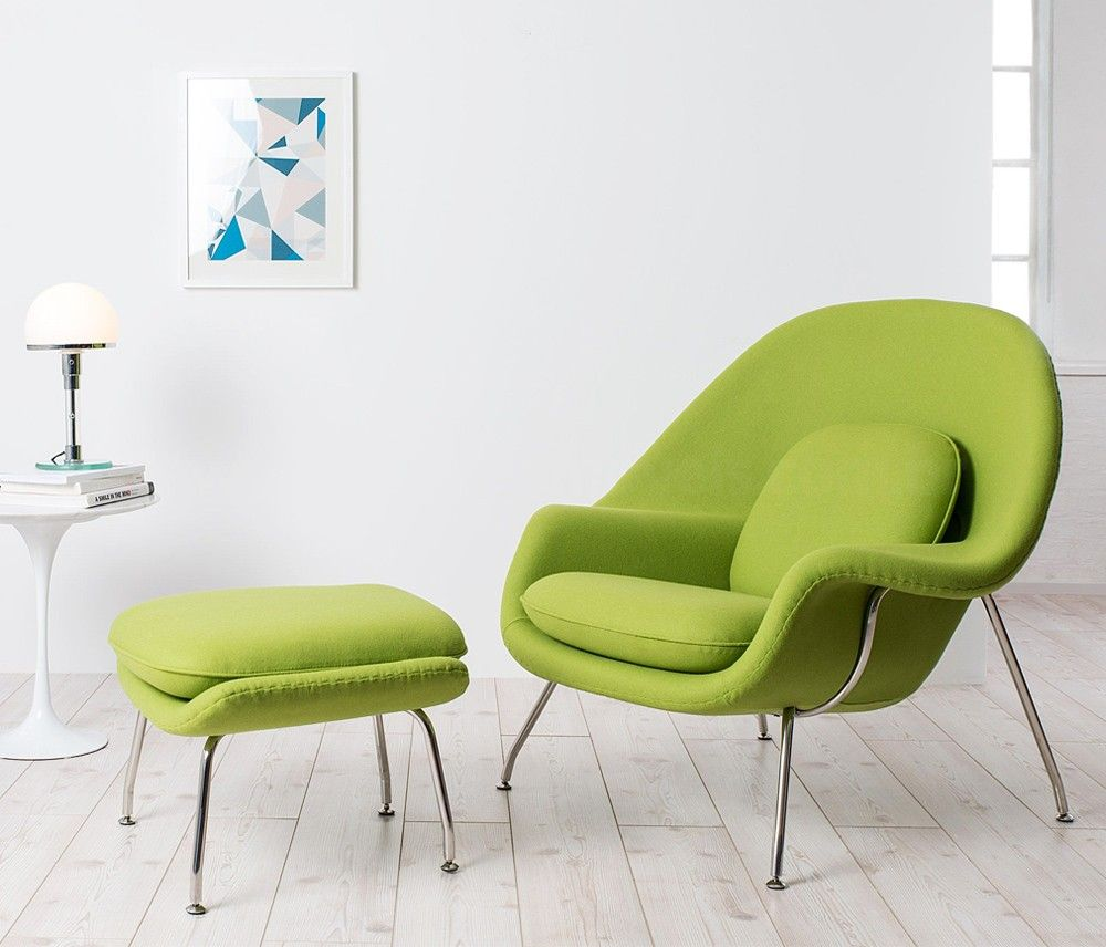 Lifestyle image_ Eero Saarinen's Womb Style Chair and Stool from VOGA and  Stool