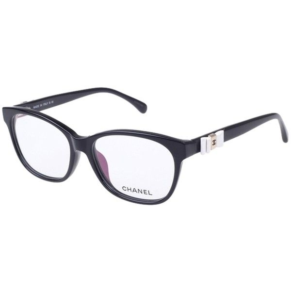 236a0444f45 Pre-owned Chanel 3284q Black With White Bows Eyeglass Frame italy (3.861.