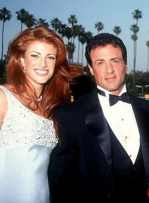 Sylvester Stallone & Angie Everhart were briefly engaged in 1995