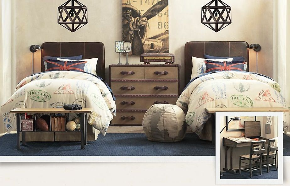 Cool Traditional Kids Bedroom Designs Twins Bedrooms And Drawers - Best travel inspired home decor ideas