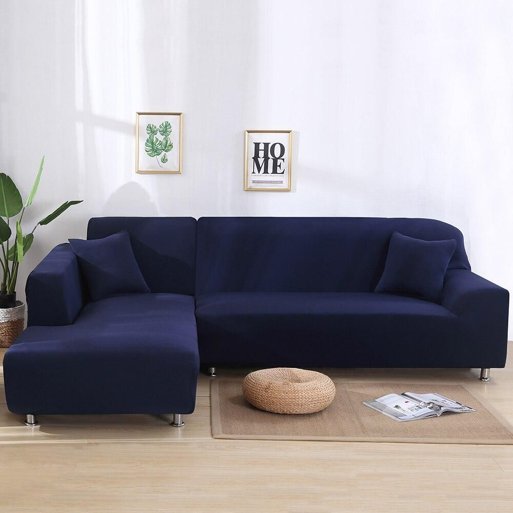 Navy Blue Waterproof Sofa Cover The North Alley In 2020 Sofa Covers Sofa Clean Couch