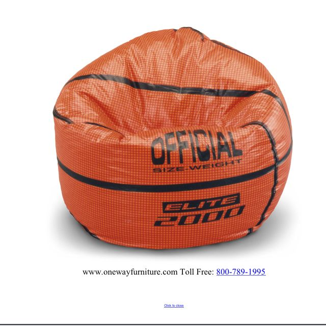 Bean bag chairs in every sport! How cute?! Designer Kids