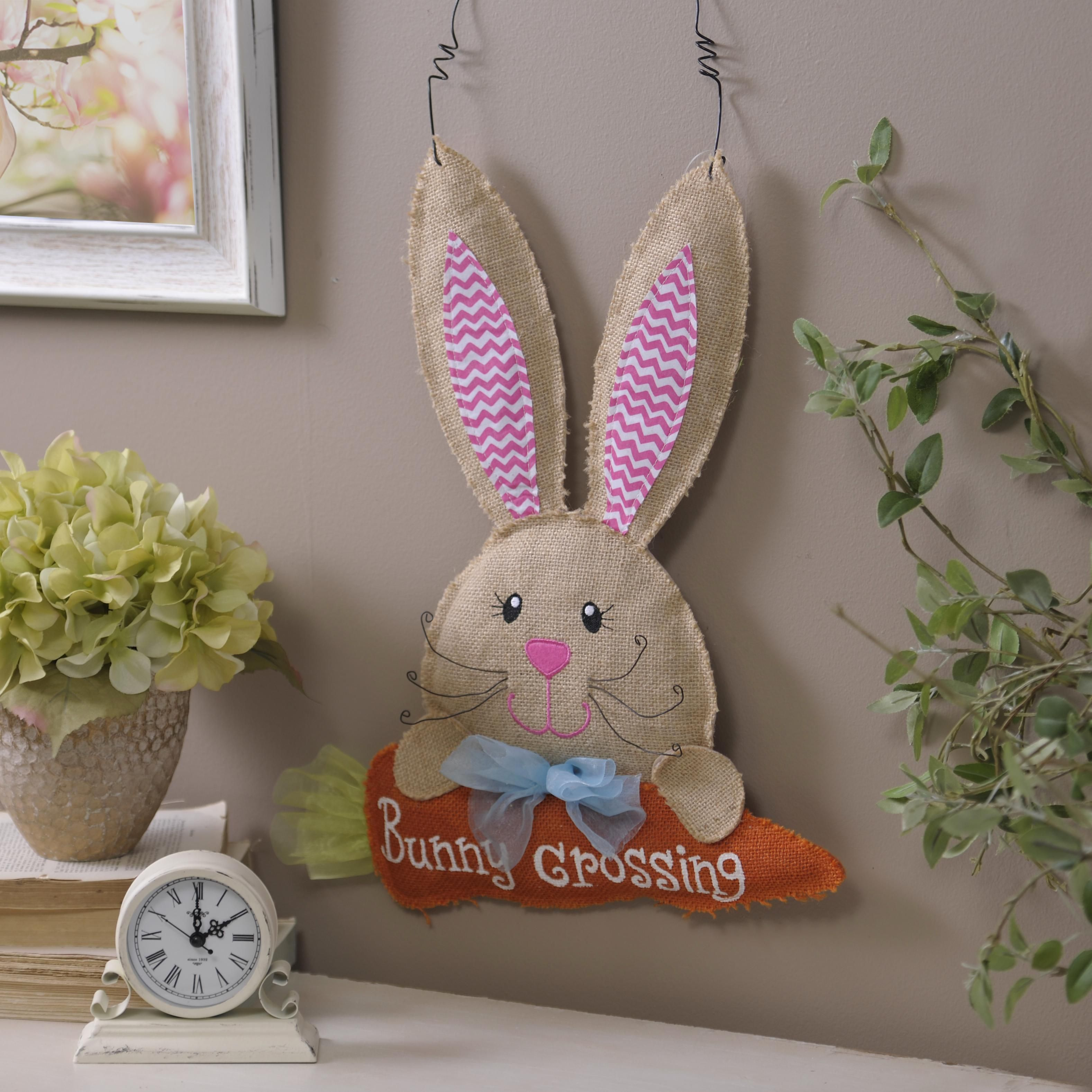 hang on your easter decor isn t complete without our burlap bunny