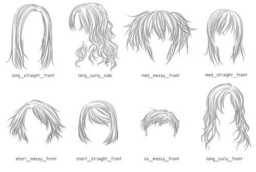200 Fabulous Hair Photoshop Brushes Best Design Options Photoshop Hair Manga Hair Anime Hair