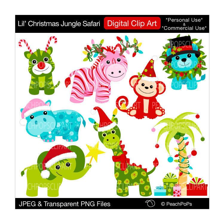 Christmas Clip Art Digital Clipart Original By Peachpopsclipart