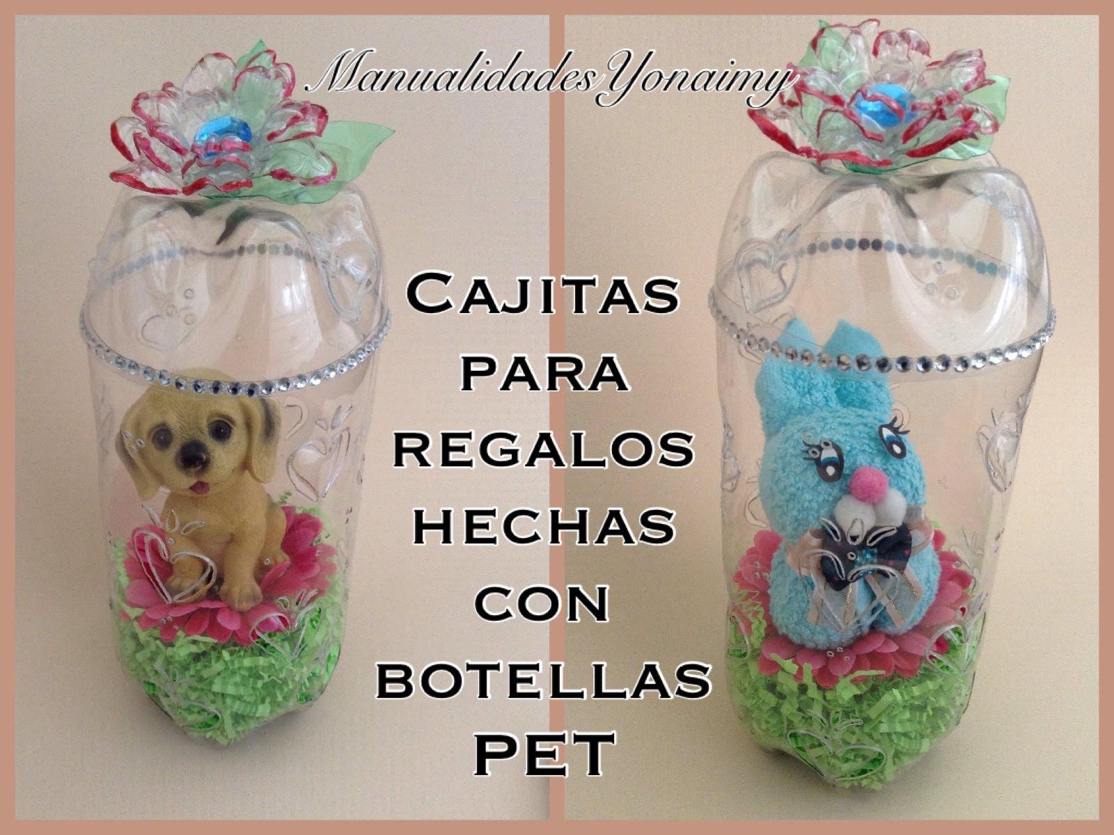 Cajitas cilindricas para regalo hechas con botellas pet - Botellas de plastico manualidades ...