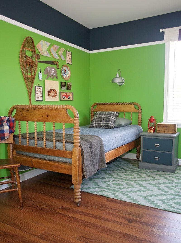 Modern Rustic Boy's Bedroom Reveal Rustic boys bedrooms