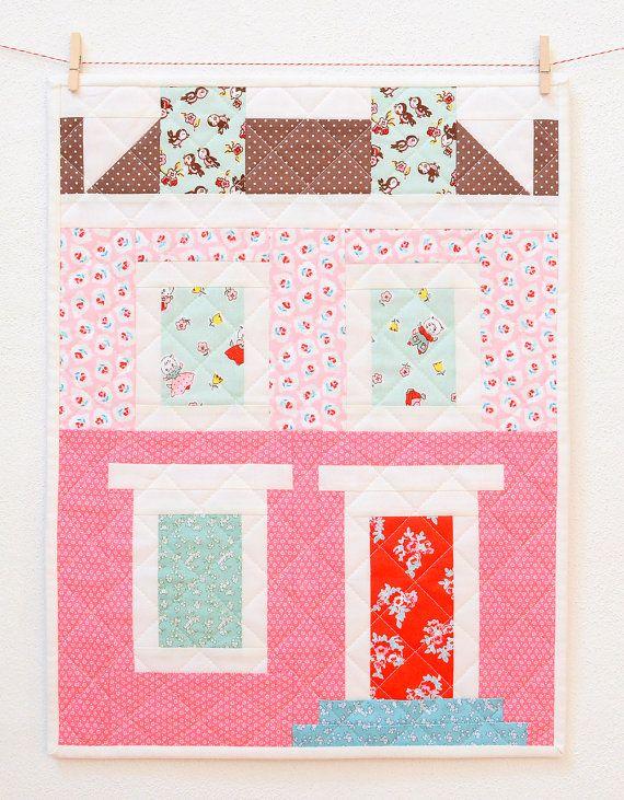 PDF Quilt Pattern Notting Hill House MINI by ellisandhiggs