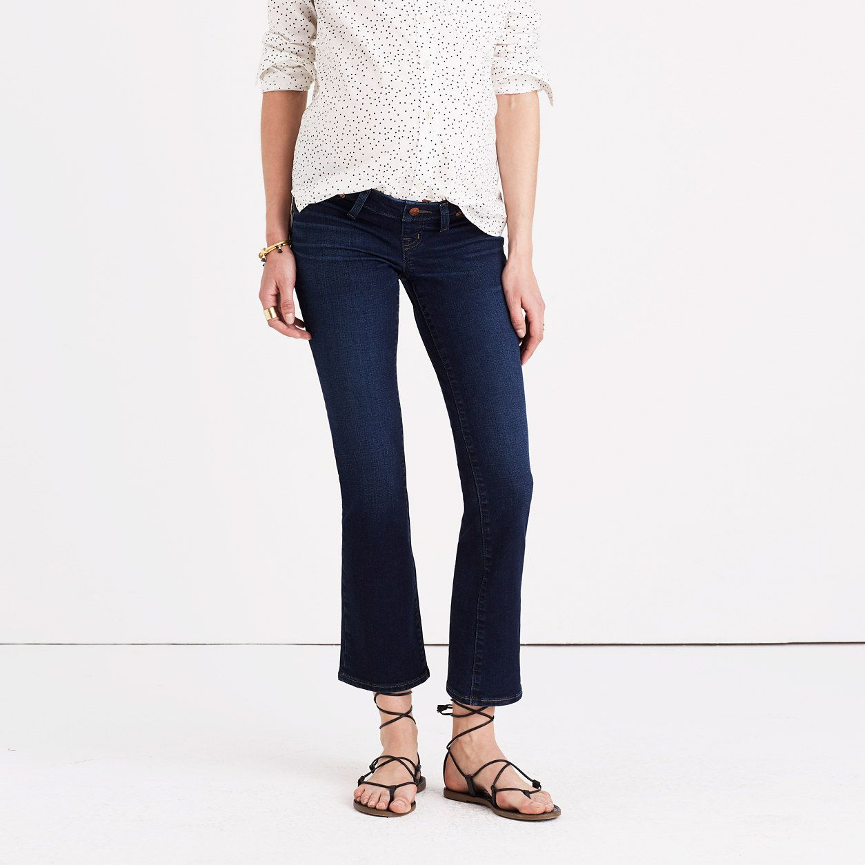 Maternity Cali Demi-Boot Jeans in Hayes Wash : maternity | Madewell