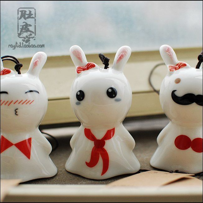 Aliexpress.com : Buy Japanese style 4 windbags bow rabbit wind chimes ceramic from Reliable ceramic cup with cover suppliers on TGLOE. $6.05