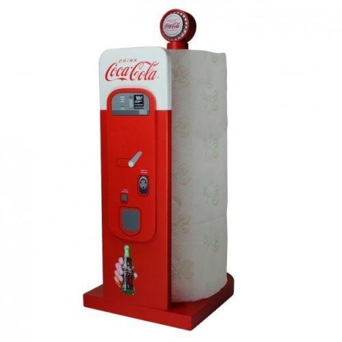 coca cola retro kuechenrollenhalter automat funny everyday items crazy utensils pinterest. Black Bedroom Furniture Sets. Home Design Ideas