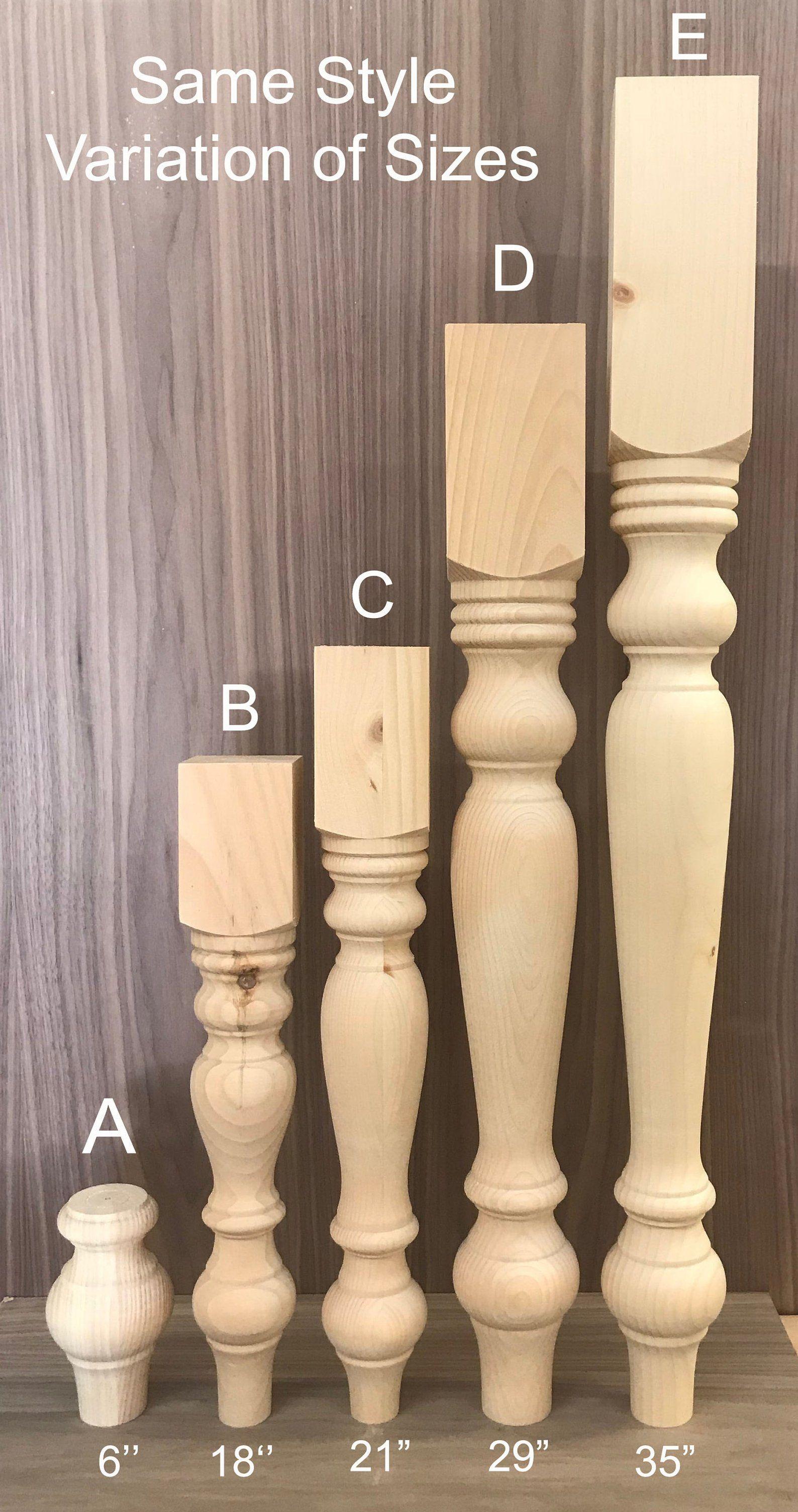 Fabulous Knotty Pine Set Of 4 Variation Table Legs Bench Legs Etsy Machost Co Dining Chair Design Ideas Machostcouk