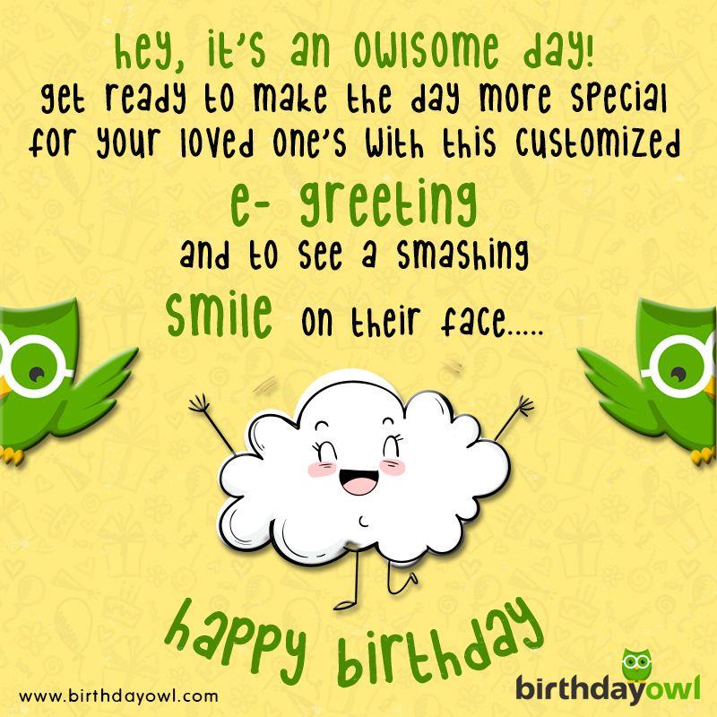Send Birthday Greetings At Birthdayowl For FREE Freegreetings Egiftcards BirthdayWishes