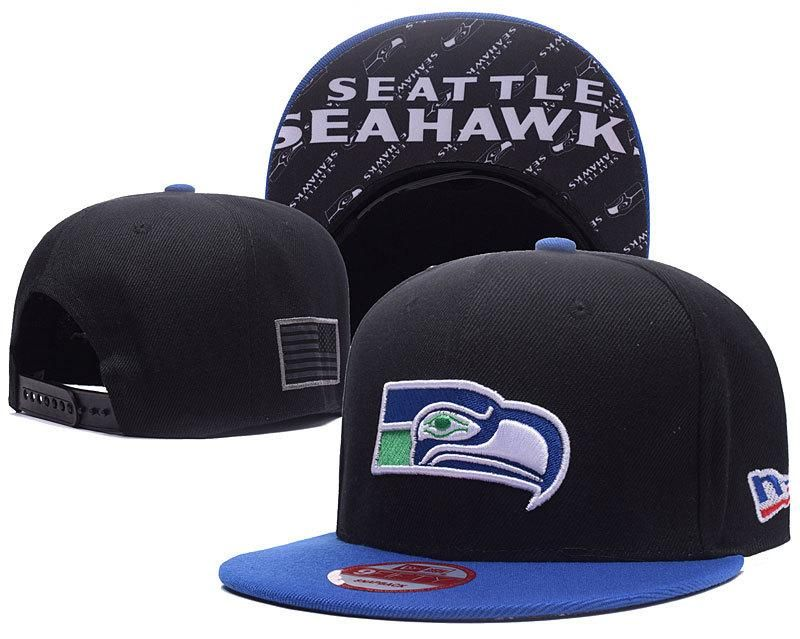 save off b2179 1c3cb Men s Seattle Seahawks New Era 9Fifty NFL Crafted in America Snapback Hat -  Black   Blue