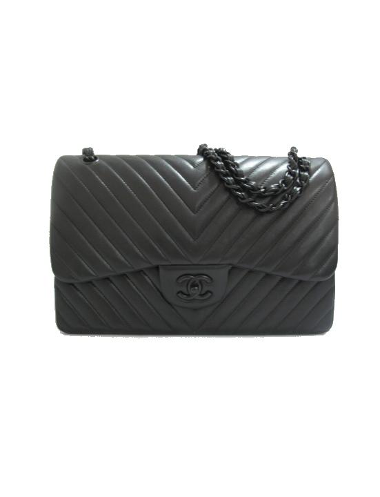 29c33c548b8b Chanel So Black Chevron Surpique Flap Bag | wish list | Bags, Chanel ...