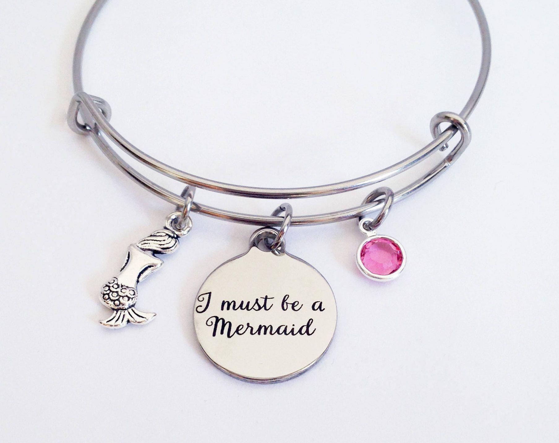 Mermaid Bracelet Jewelry Women For Kids Silver